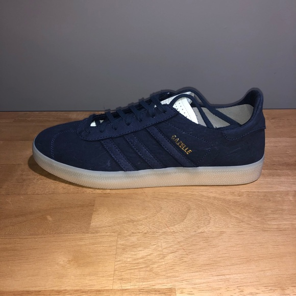 adidas Gazelle Crafted Casual Sneakers Blue Mens for